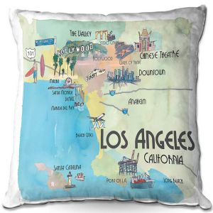 Decorative Outdoor Patio Pillow Cushion | Markus Bleichner - Tourist Los Angeles 2 | Tourist attractions California