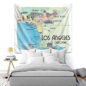 Artistic Wall Tapestry   Markus Bleichner - Tourist Los Angeles 2   Tourist attractions California