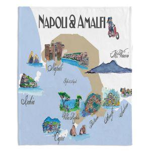 Artistic Sherpa Pile Blankets | Markus Bleichner - Tourist Napoli Amalfi | map city