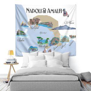 Artistic Wall Tapestry | Markus Bleichner - Tourist Napoli Amalfi | map city