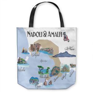 Unique Shoulder Bag Tote Bags   Markus Bleichner - Tourist Napoli Amalfi   map city