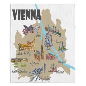Decorative Fleece Throw Blankets | Markus Bleichner - Tourist Vienna | map city