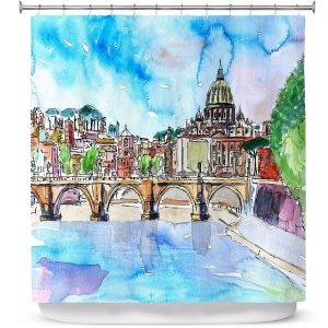 Premium Shower Curtains | Markus Bleichner - Vatican Rome Italy Saint Peter l