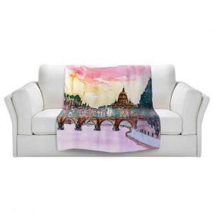 Artistic Sherpa Pile Blankets | Markus Bleichner - Vatican Rome Italy Sunset Saint Peter ll