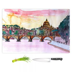 Artistic Kitchen Bar Cutting Boards | Markus Bleichner - Vatican Rome Italy Sunset Saint Peter ll