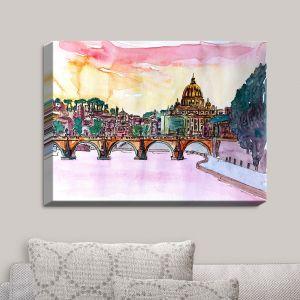 Decorative Canvas Wall Art | Markus Bleichner - Vatican Rome Italy Sunset Saint Peter II | Italy Vatican Rome St. Peter Travel City