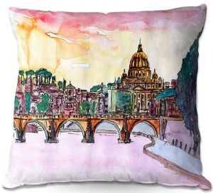 Throw Pillows Decorative Artistic | Markus Bleichner - Vatican Rome Italy Sunset Saint Peter ll