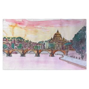 Artistic Pashmina Scarf | Markus Bleichner - Vatican Rome Italy Sunset Saint Peter II | Italy Vatican Rome St. Peter Travel City