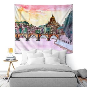 Artistic Wall Tapestry | Markus Bleichner - Vatican Rome Italy Sunset Saint Peter ll