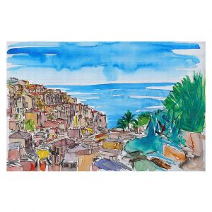 Decorative Floor Covering Mats | Markus Bleichner - Vernazza Italian Riviera 1 | Landscape city scape town coast ocean