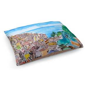Decorative Dog Pet Beds | Markus Bleichner - Vernazza Italian Riviera 1 | Landscape city scape town coast ocean
