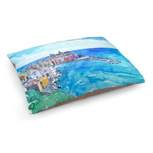 Decorative Dog Pet Beds | Markus Bleichner - Vernazza Italian Riviera 2 | Landscape city scape town coast ocean