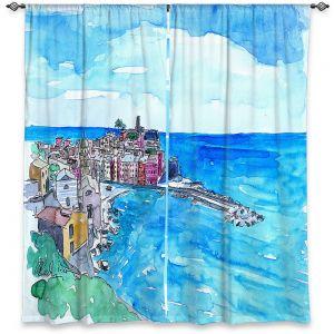 Decorative Window Treatments | Markus Bleichner - Vernazza Italian Riviera 2 | Landscape city scape town coast ocean