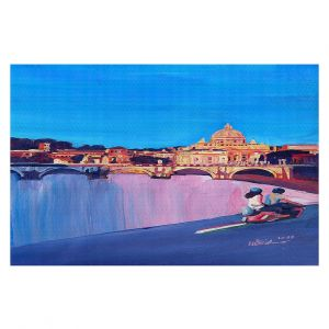 Decorative Floor Covering Mats | Markus Bleichner - Starry Night Vespa Vatican | City cityscape buildings downtown Vatican City scooter