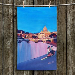 Unique Hanging Tea Towels | Markus Bleichner - Starry Night Vespa Vatican | City cityscape buildings downtown Vatican City scooter