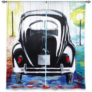 Decorative Window Treatments | Markus Bleichner - Volkswagon Bug Split Window