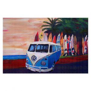 Decorative Floor Covering Mats | Markus Bleichner - VW Bus Surfing 2 | Car Volkswagon beach coast travel ocean