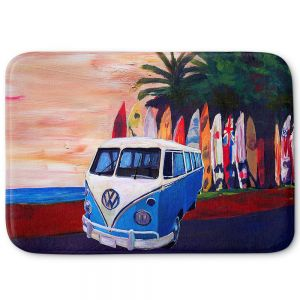 Decorative Bathroom Mats | Markus Bleichner - VW Bus Surfing 2 | Car Volkswagon beach coast travel ocean
