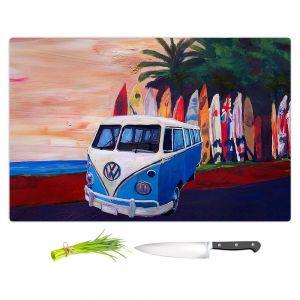 Artistic Kitchen Bar Cutting Boards | Markus Bleichner - VW Bus Surfing 2 | Car Volkswagon beach coast travel ocean