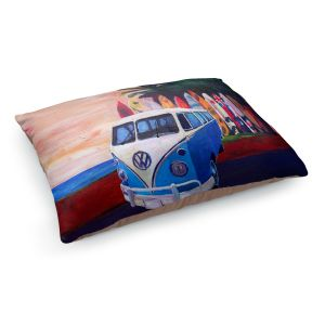 Decorative Dog Pet Beds | Markus Bleichner - VW Bus Surfing 2 | Car Volkswagon beach coast travel ocean