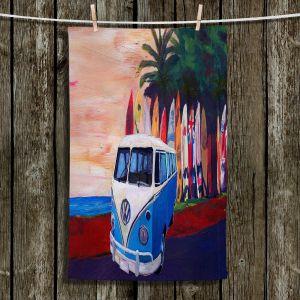 Unique Hanging Tea Towels | Markus Bleichner - VW Bus Surfing 2 | Car Volkswagon beach coast travel ocean