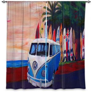 Decorative Window Treatments | Markus Bleichner - VW Bus Surfing 2 | Car Volkswagon beach coast travel ocean