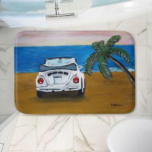 Decorative Bathroom Mats | Markus Bleichner - White Beach Volkswagon Bug