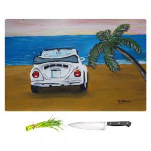 Artistic Kitchen Bar Cutting Boards | Markus Bleichner - White Beach Volkswagon Bug
