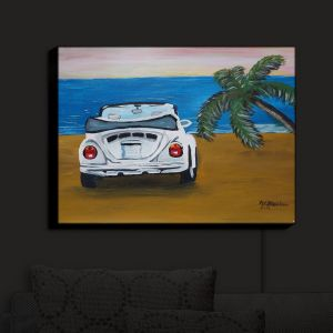 Nightlight Sconce Canvas Light | Markus Bleichner - White Beach Volkswagon Bug