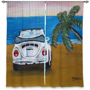 Decorative Window Treatments | Markus Bleichner - White Beach Volkswagon Bug