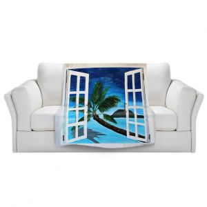 Artistic Sherpa Pile Blankets   Markus Bleichner Window To Paradise