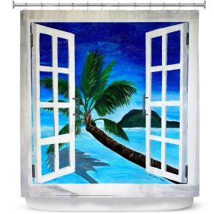 Premium Shower Curtains | Markus Bleichner Window To Paradise