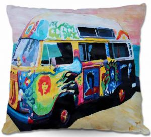 Decorative Outdoor Patio Pillow Cushion | Markus Bleichner - Here Comes the Sun Volkswagon