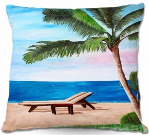 Decorative Outdoor Patio Pillow Cushion | Markus Bleichner - Strand Chairs on Caribbean