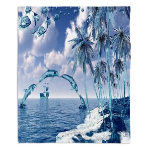 Decorative Fleece Throw Blankets | Mark Watts - Aquatic Reflections