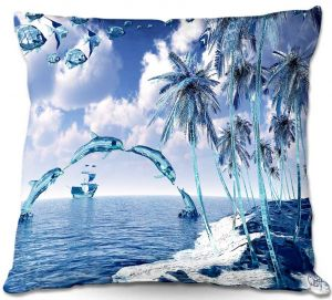 Throw Pillows Decorative Artistic | Mark Watts's Aquatic Reflections