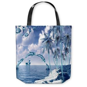 Unique Shoulder Bag Tote Bags | Mark Watts Aquatic Reflections
