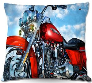 Decorative Outdoor Patio Pillow Cushion | Mark Watts - Road King