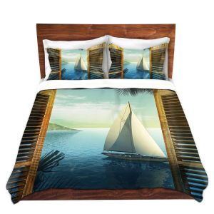 Artistic Duvet Covers and Shams Bedding | Mark Watts - Set Sail