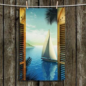 Unique Hanging Tea Towels | Mark Watts - Set Sail | Ocean Sailboat