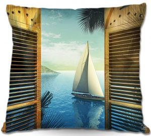 Decorative Outdoor Patio Pillow Cushion | Mark Watts - Set Sail