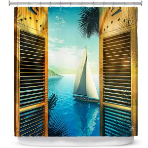 Premium Shower Curtains | Mark Watts Set Sail