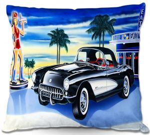 Decorative Outdoor Patio Pillow Cushion | Mark Watts - Some Fries With That Shake