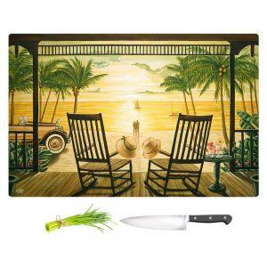 Artistic Kitchen Bar Cutting Boards | Mark Watts - Sunset Serenade