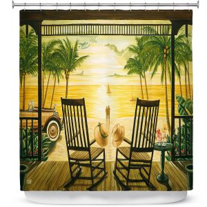 Premium Shower Curtains | Mark Watts Sunset Serenade