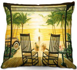 Decorative Outdoor Patio Pillow Cushion | Mark Watts - Sunset Serenade