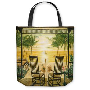 Unique Shoulder Bag Tote Bags | Mark Watts Sunset Serenade