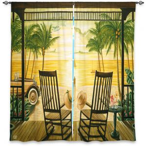 Unique Window Curtain Unlined 40w x 61h from DiaNoche Designs by Mark Watts - Sunset Serenade