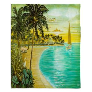 Decorative Fleece Throw Blankets | Mark Watts - Tropic Cove