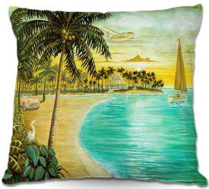 Throw Pillows Decorative Artistic | Mark Watts Tropic Cove